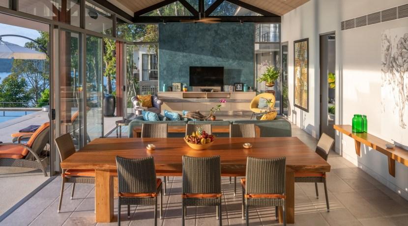 Eagles Nest Villa - Living and Dining Pavilion