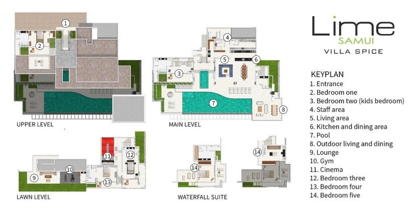 Villa Spice - Floorplan