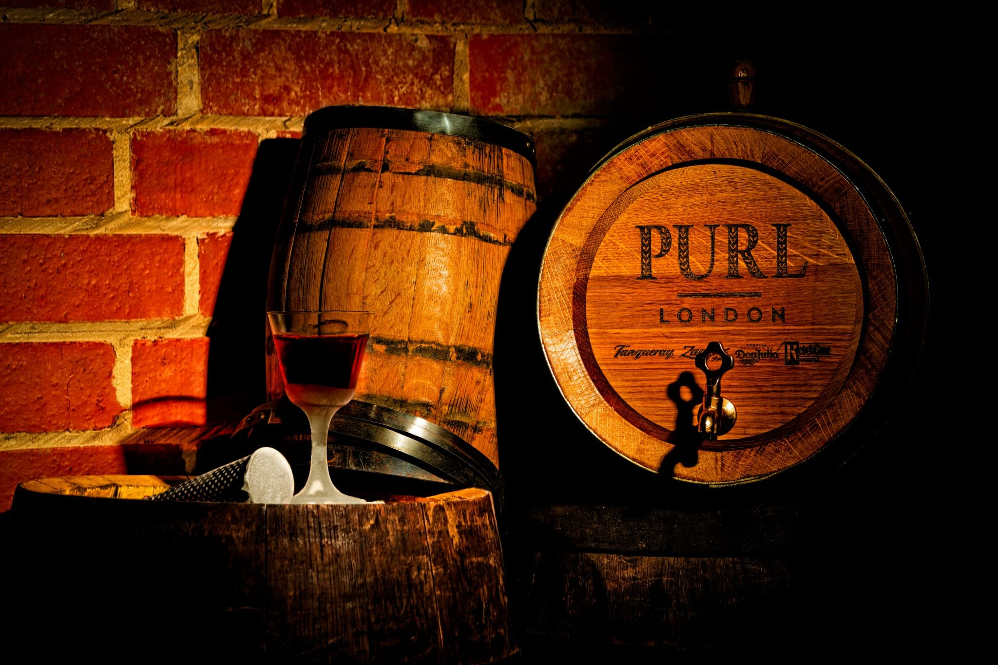 Purl logo on barrel