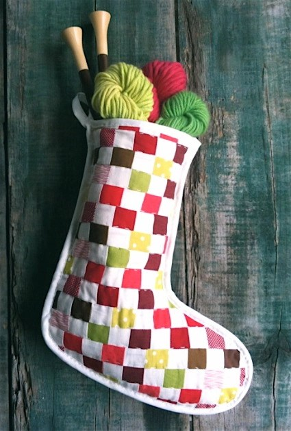 DIY Strip Pieced Christmas Stocking Template and Sewing Tutorial | Purl Soho