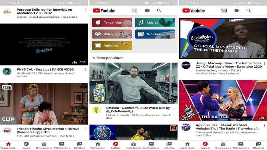 YouTube para Android lanza la nueva pestaña 'Explorar'