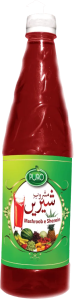 Plain Spice Range (Puro Black Pepper Powder, Puro Cumin Powder, Puro Coriander Powder, Puro Garam Masala, Puro Red Chili Powder, Puro Turmeric Powder, Puro Garlic Powder, Puro Ginger Powder), Healthy Salt Range (Puro Healthy Salt, Puro Table Salt, Healthy Iodized Salt, Unbleached Salt), Vinegar Range (Puro White Vinegar, Puro Apple Vinegar and Puro Mix Fruit Vinegar), Puro Food Mixed Ketchup Range, Puro Mayonnaise, Puro Mashroob-e-Shirin (Red Syrups) Refreshing Syrups (ice cream, Puro Anar Sharbat, Puro Malta Sharbat, Puro Sharbat-e-Sandal, Puro Falsa Sharbat, Puro Sharbat-e-Badam, Puro Sharbat Imli Aaloo Bokhara, Puro Sharbat Elaichi), Arq-e-Gulab (Rose Water), Ispaghol Husk, Honey, Green tea, Puro Oils (Almond oil, Mustard oil, Olive oil) Puro Wheat Porridge, Puro Shell Shaped Macaroni, Vermicelli Puro Food Red Syrup MASHROOB-E-SHIRIN
