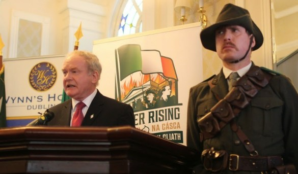 Martin McGuinness with James Connolly