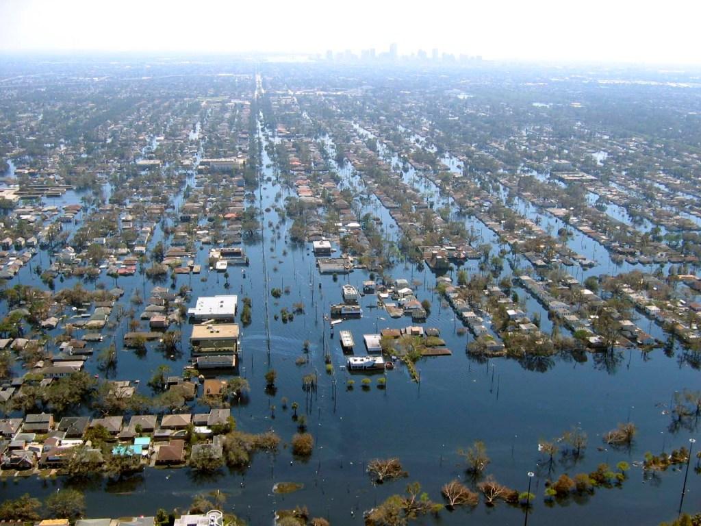 Barrios inundados- Huracán Katrina- EE.UU. - 2005