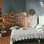 Schlafzimmer Idee Weihnachtsdeko Mit Weihnachtsbaum Sternen