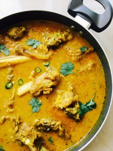 Mutton in yoghurt based curry