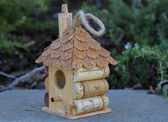 Cork Bird House from Carefully Corked