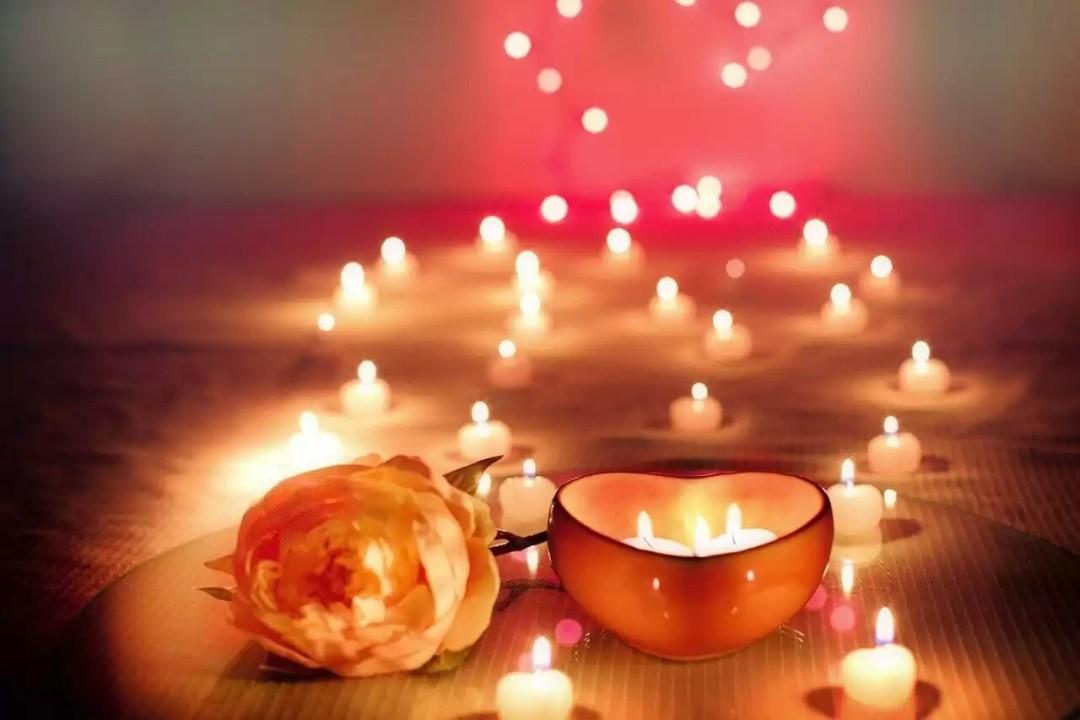 candles, valentine, valentine's day