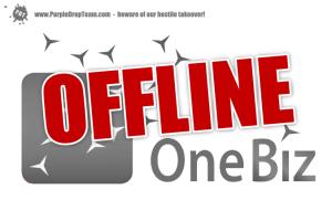 OneBiz.com ist offline