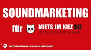 Kiez-Marketing für die PRO SOUND Katze