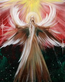 Image result for angels  christmas painting