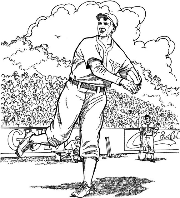Warming Up In The Field Baseball Coloring Page Purple Kitty