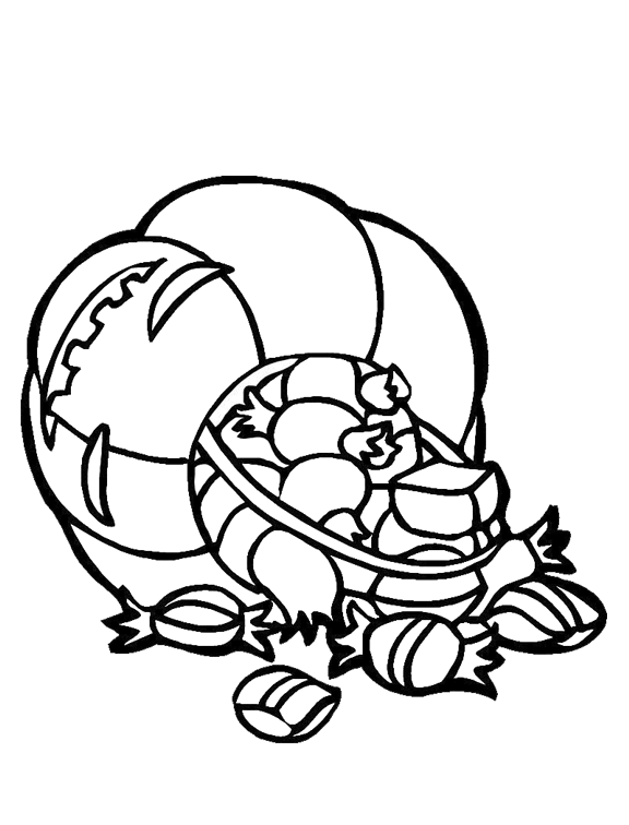 pumpkin full of candy coloring page  purple kitty