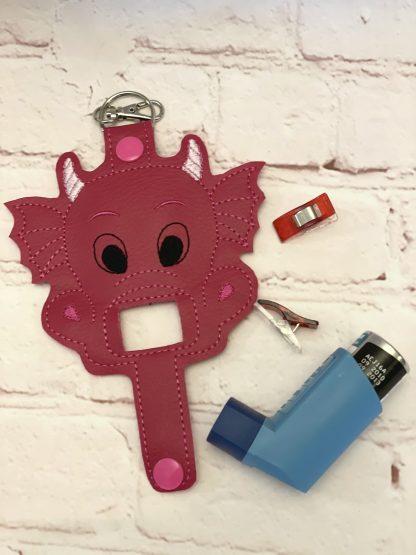 Pink Dragon Asthma Inhaler Case