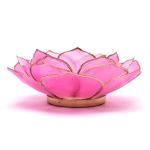 Pink Gold Petal Lotus Candle Holder Purple Mill