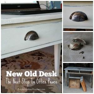 New Old Desk, first appeared on The Purple Monkey Manor Blog, Purple Monkey Mayhem