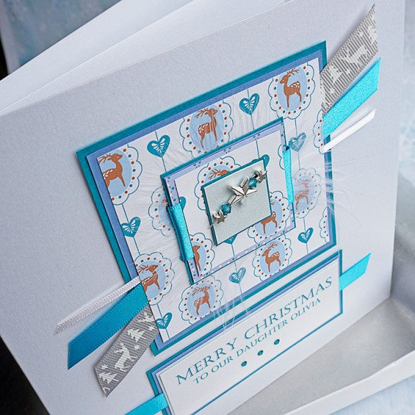 Luxury Boxed Christmas Card Frosty