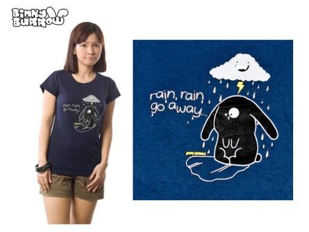 Binky Burrow - Rain rain go away shirt