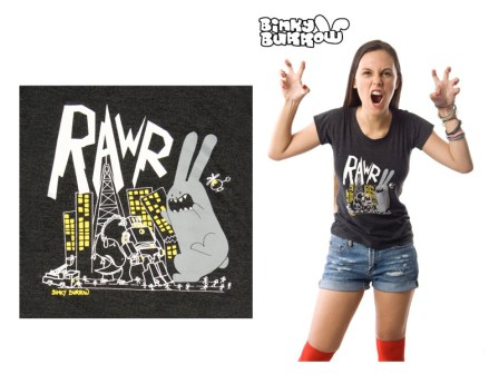 Binky Burrow - Rawr shirt