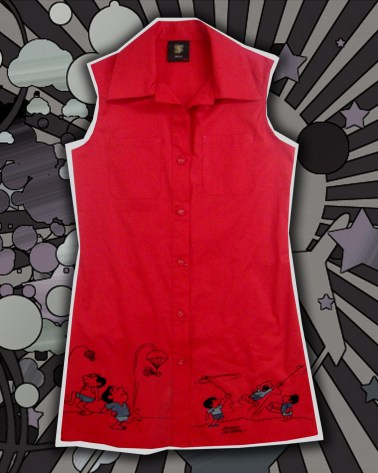 Ladies' Sleeveless Long Blouse P1595