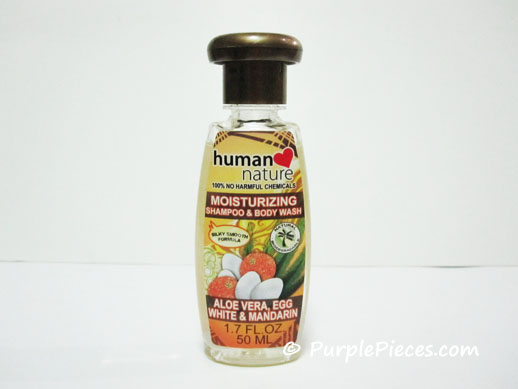 Human Heart Nature Moisturizing Shampoo and Body Wash - Aloe Vera, Egg White & Mandarin