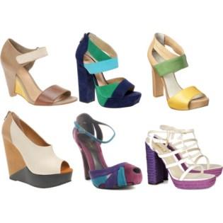 Color Blocking Trend - Shoes
