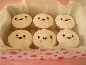 Kawaii Cupcakes Faces