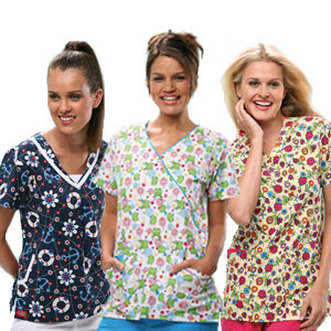 Printed Medical Scrubs