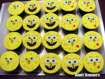 Spongebob Cupcakes - Anna Banana