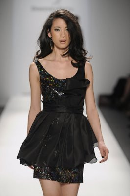 DV black ruffle cocktail dress