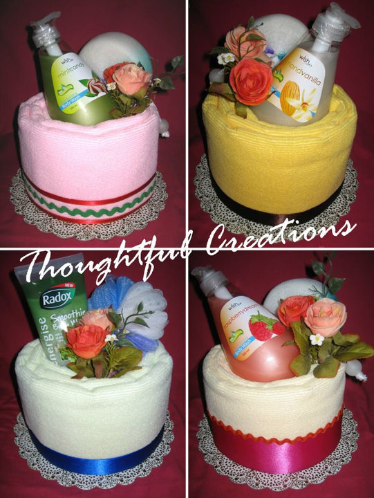 Thoughtful Creations - Towel Cakes - Body Care Sets