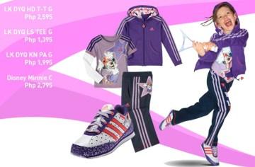 adidas kids purple apparel - minnie mouse