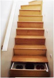 Shoe Organizer on Stairs