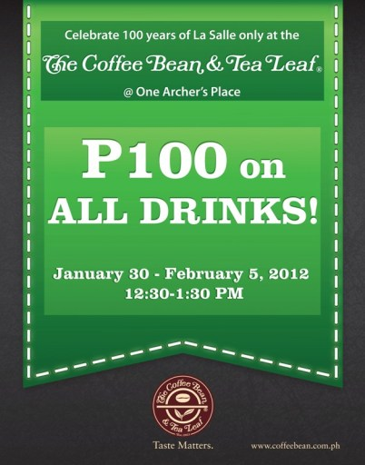 Cofee Bean and Tea Leaf Taft Avenue