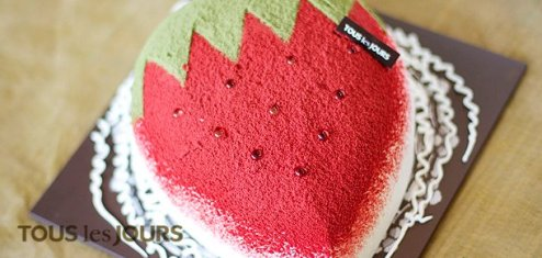 Tous Les Jours - Strawberry Inspiration Cake