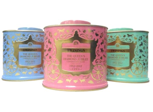 Twinings Tea - The Queen's Diamond Jubilee in Green, Pink,  Blue