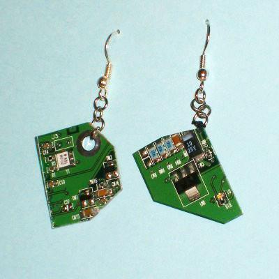 Circuit Board Earrings - Beileil Etsy Shoppe
