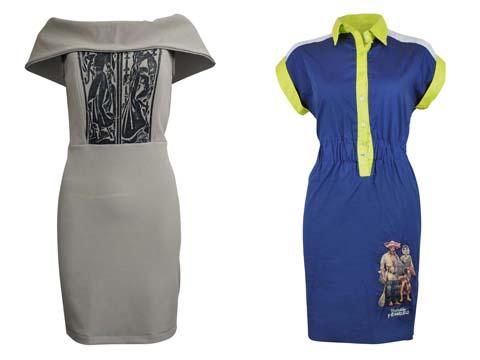 Freeway x Botong Bardot Dress - Navy Blue Dress
