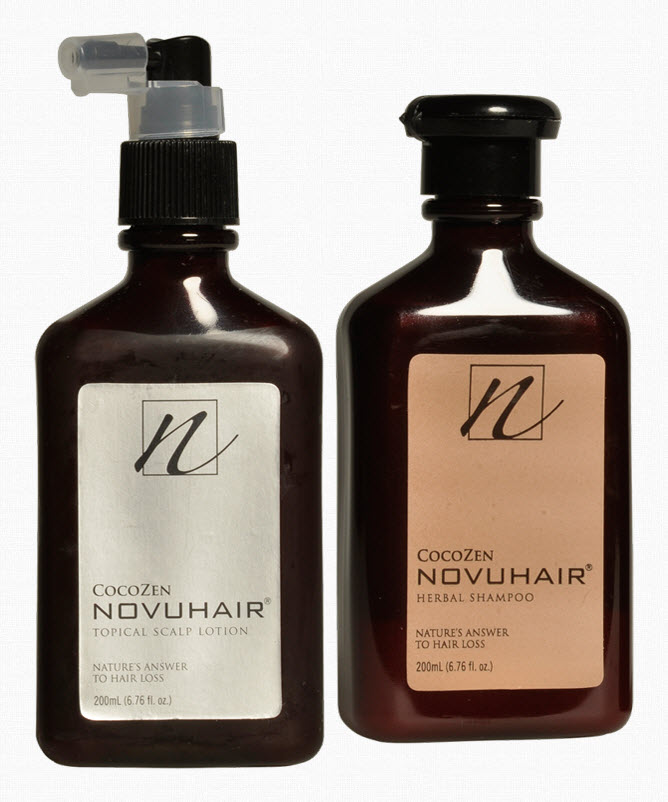 Novuhair Topical Scalp Lotion and Herbal Shampoo