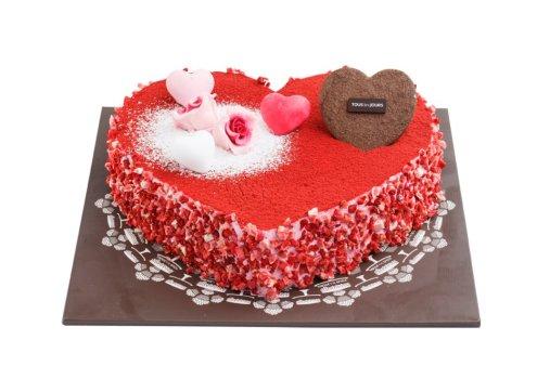 Tous Les Jours - Kiss Strawberry Heart Cake