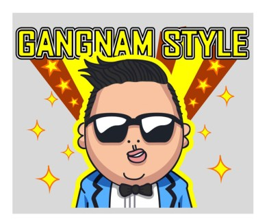 LINE Messaging App PSY Sticker for free
