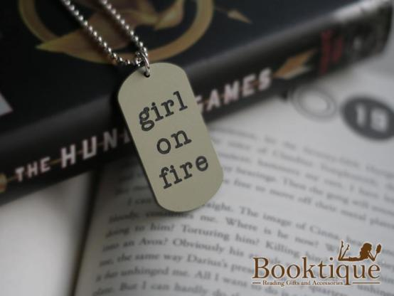 Booktique Girl on Fire Necklace