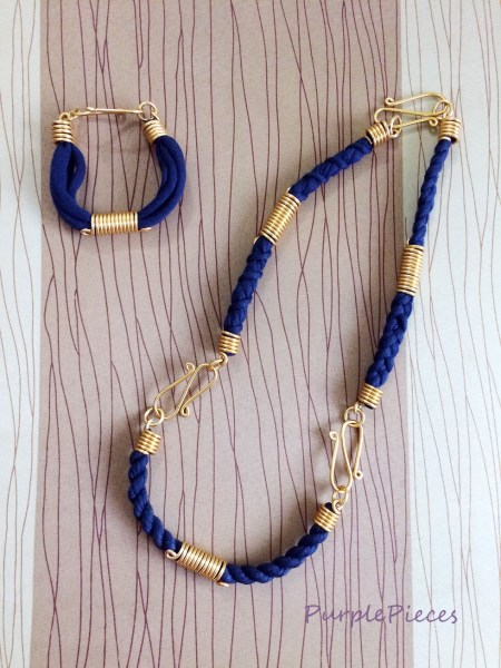 Bend Accessories Long Necklace and Bracelet