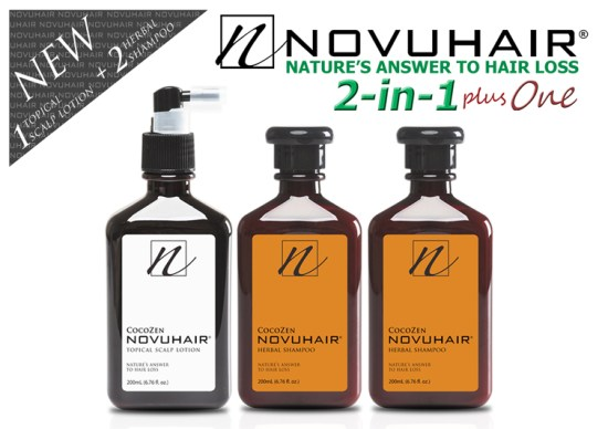 Novuhair 2 in 1 Plus One Pack