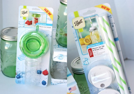 Ball Jar Infuser and Sip & Straw Lids