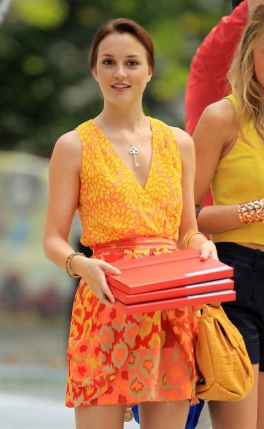 Blair Waldorf Orange Dress