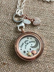 Love you to the moon living locket