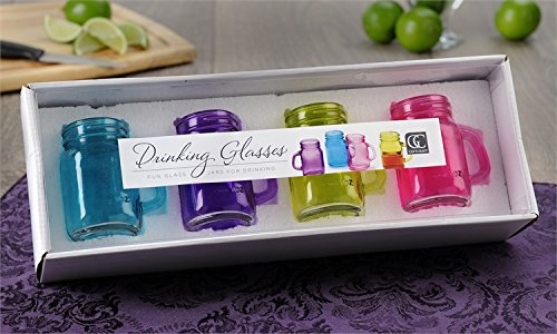 Miniature Colored Glass Mason Jars