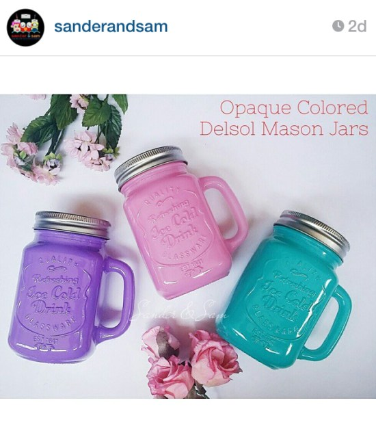 Opaque Colored Del Sol Mason Jars