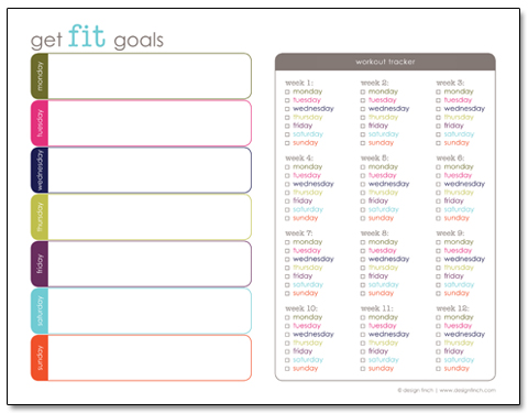 Get Fit Goals Planner - Free Printable